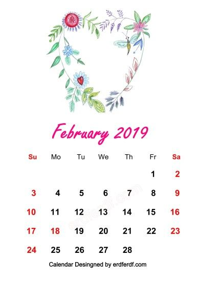 ... 8 Design February 2019 HD Calendar Wallpapers