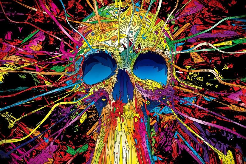 Psychedelic Space Wallpapers Psychedelic skull hd
