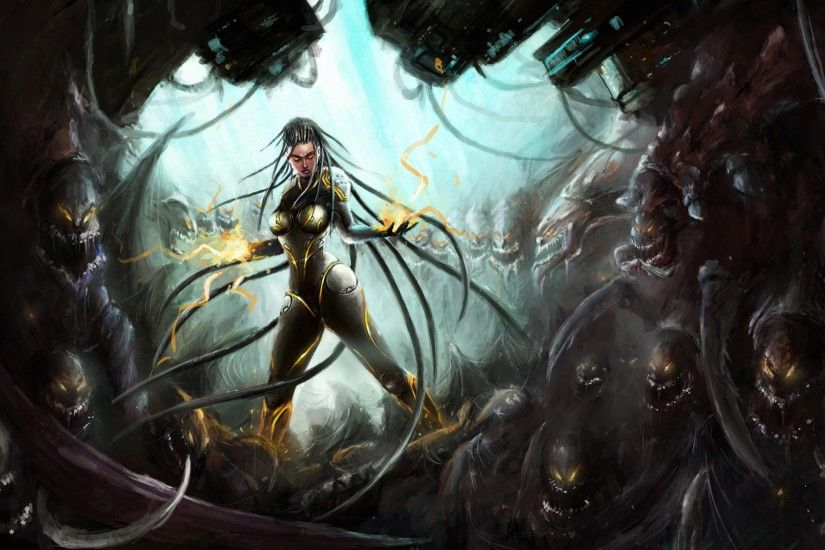 Sarah Kerrigan - II by Gelvuun | Graphics | Pinterest | Sarah kerrigan,  Starcraft and Sci fi