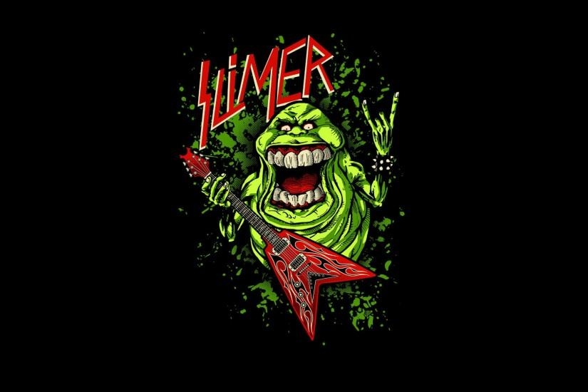 Ghostbusters Slimer Wallpaper for Pinterest