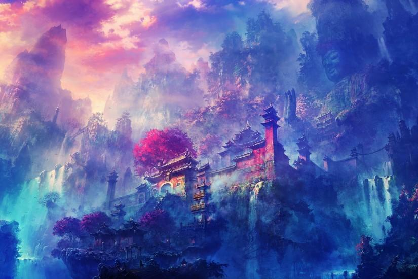 new anime scenery wallpaper 1920x1200 cell phone