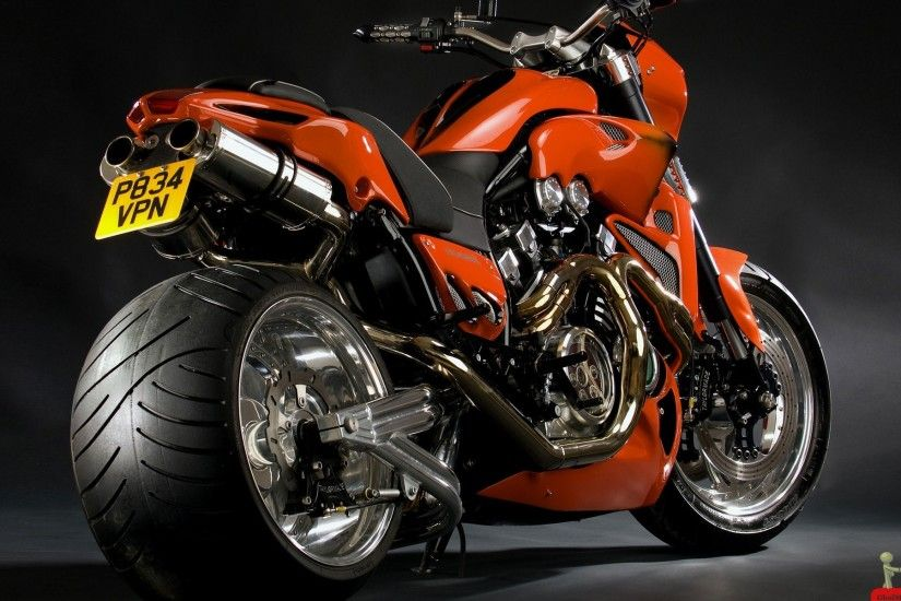 Red Yamaha Vmax Super Bike Desktop Wallpaper #672827 Wallpaper