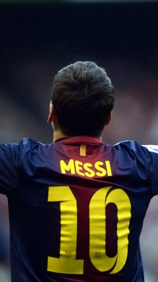 2160x3840 Wallpaper lionel messi, player, back, shirt