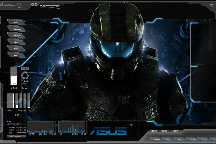 ... Blue Space Future Tech Rainmeter Zerox Project by ZeroxProject