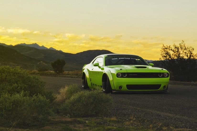 Download 1920x1080 Dodge challenger, Muscle car, Tuning, Light green ...  Doge