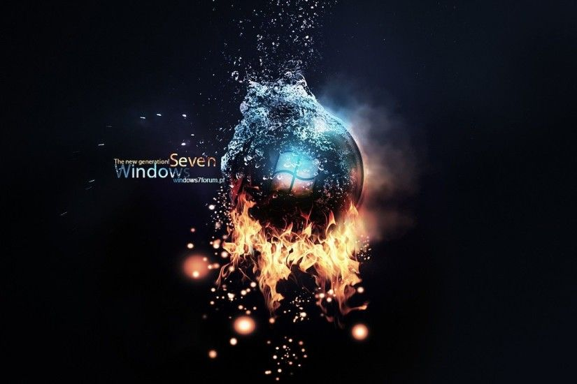 Windows Ultimate Bright Black HD desktop wallpaper Widescreen