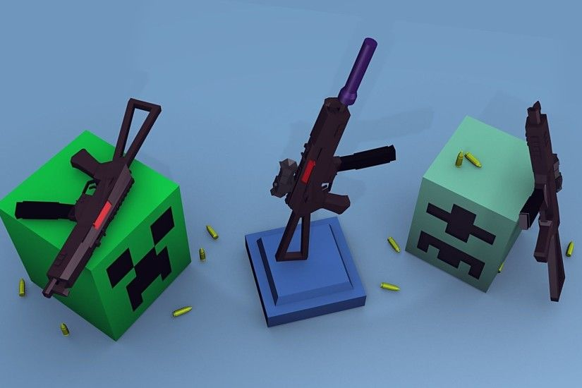 Minecraft Creeper With Guns