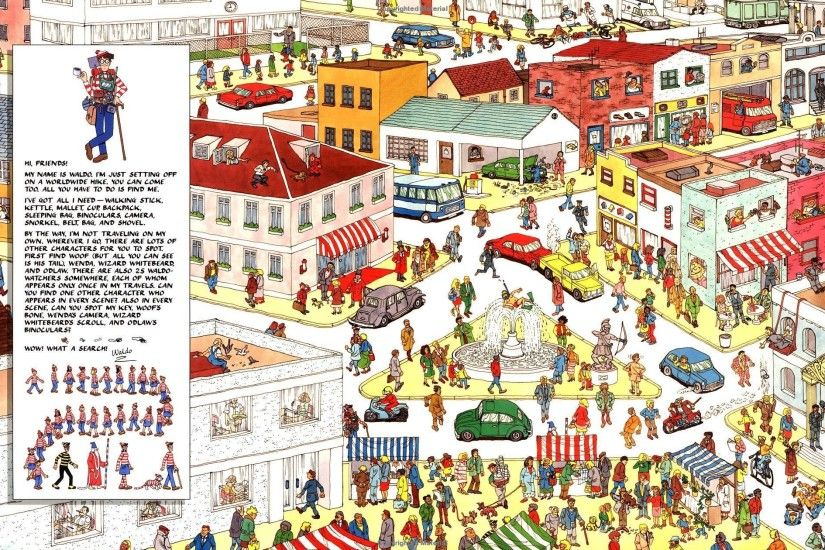 4 - 7 Extremely Hard Where Is Waldo HD Wallpapers