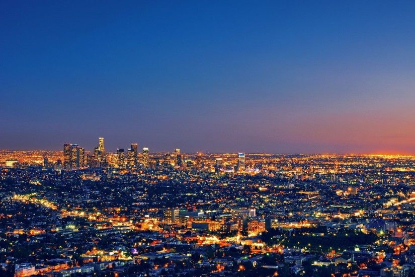 Los Angeles At Night Pic