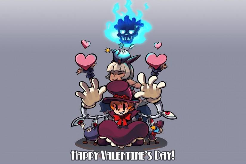 Skullgirls Happy Valentine FullHD Wallpaper
