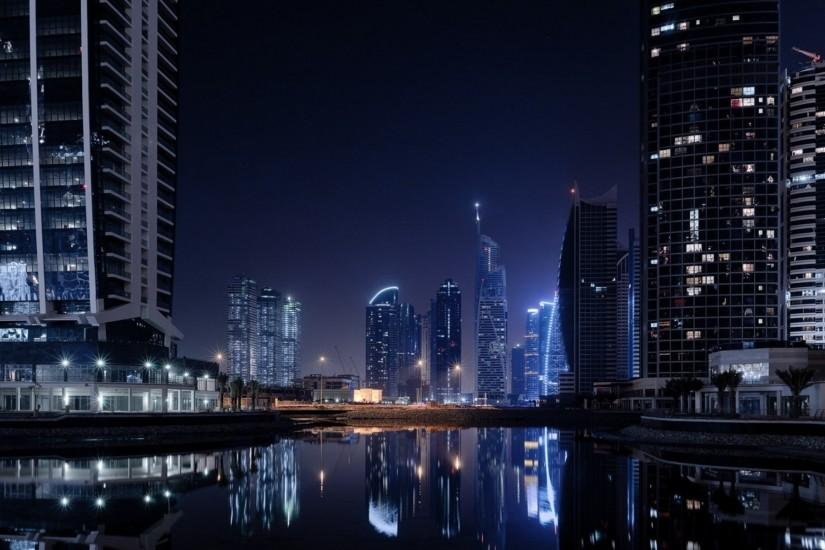 Preview wallpaper dubai, city, lights 3840x2160