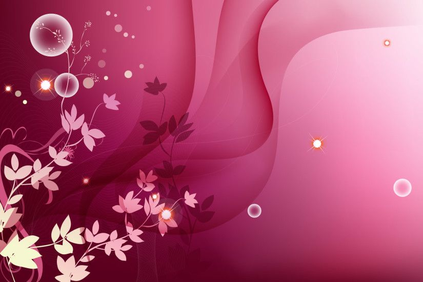 New wallpaper added at Background Wallpapers - Pink Style Floral Wallpaper