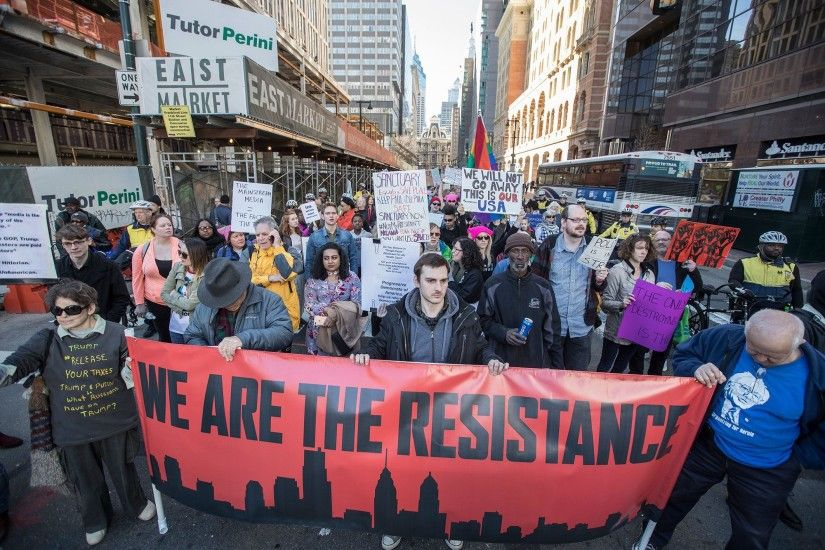 'Not My President's Day' protests in the U.S.