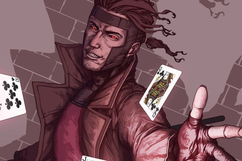 3840x2160 Wallpaper x-men, gambit, marvel comics, art, mutant