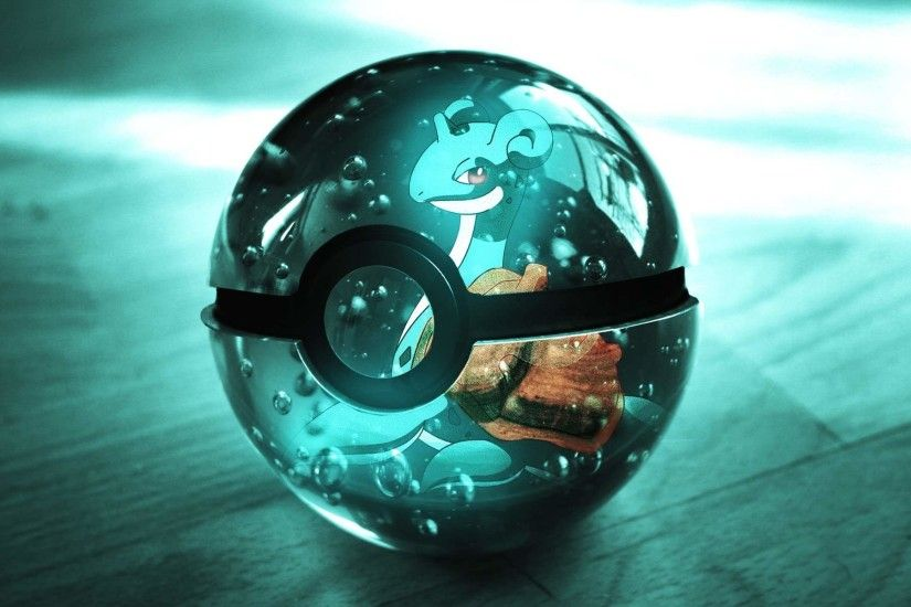 1920x1200 Shiny Pokeball Wallpaper from Pokemon. Shiny Pokeball with Lapras  on it