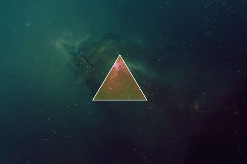 Triangle In Cosmos Wallpaper ...