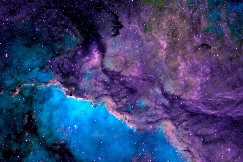 Space purple blue nebula