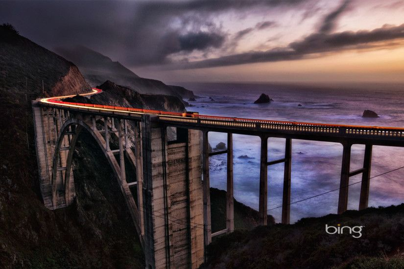 Bixby Bridge Bing Best Wallpaper
