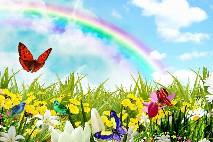 7. rainbow-flowers-wallpaper8-600x338