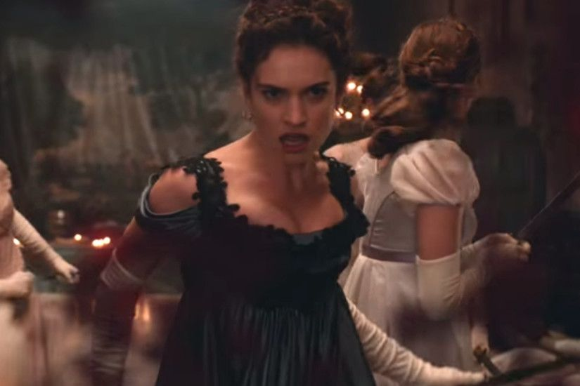 Pride and Prejudice and Zombies: First teaser trailer shows Lily James as a  truly brutal Elizabeth Bennet | The Independent