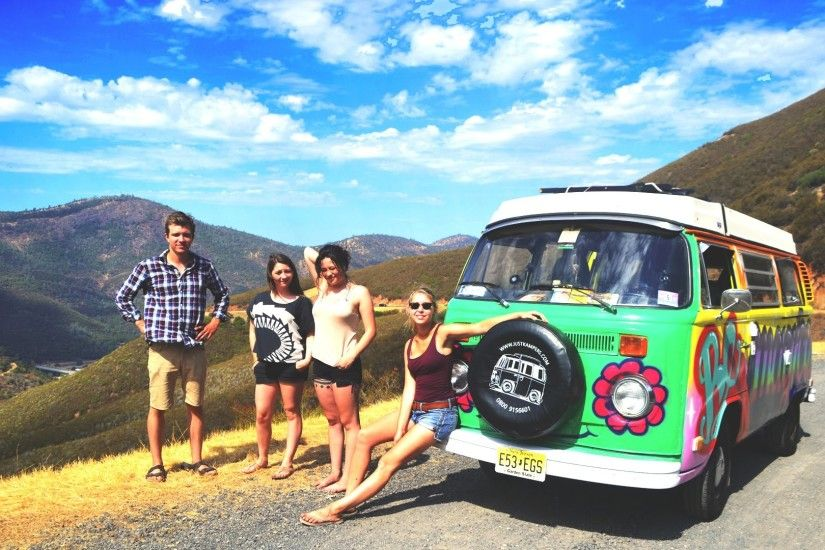 1 guy, 3 girls, 6 weeks and 10,000 miles = Road Trip in a VW Bus (2014) -  YouTube