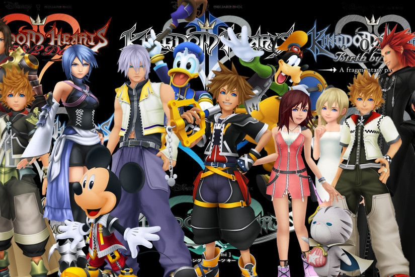 ... Kingdom Hearts Saga: Group wallpaper by The-Dark-Mamba-995