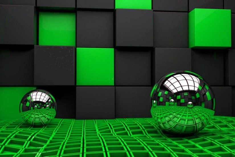 3D Abstract Wallpaper | HD Wallpapers Pulse Green And Black ...