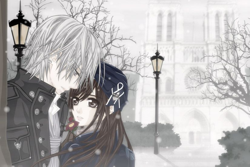Cute Anime Couple Background HD.