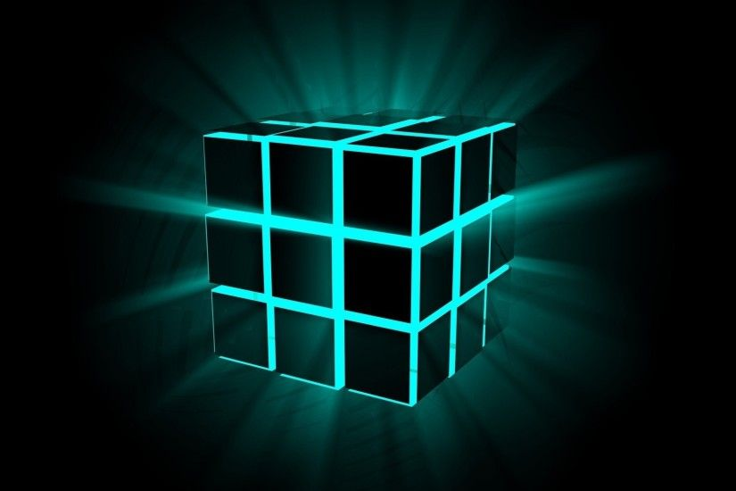 Neon cube wallpaper - 3D wallpapers - #23099