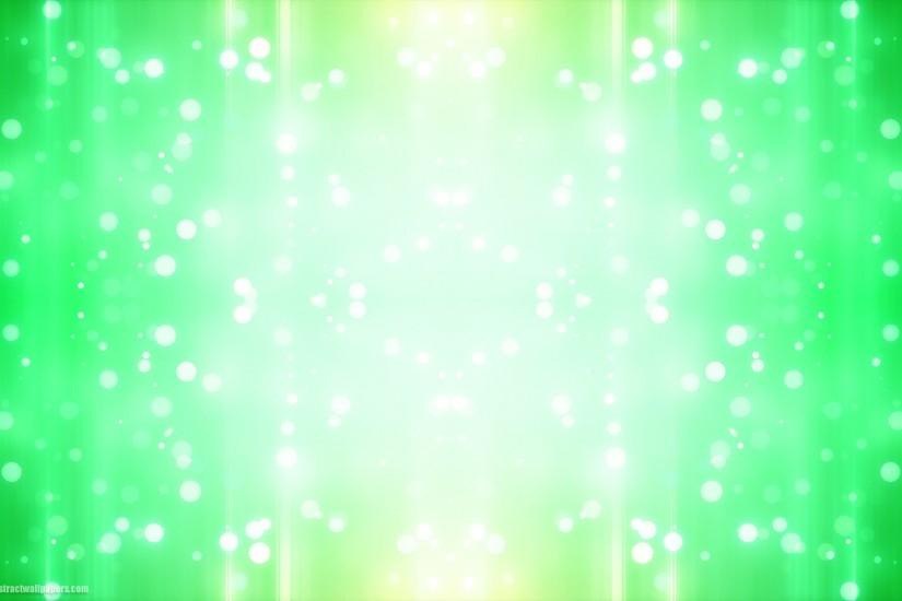 Green abstract background with bright lights