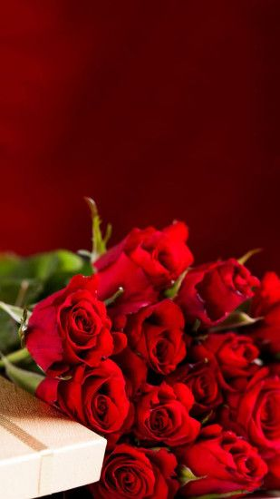 Red Roses Bouquet Valentines Day Gift Android Wallpaper ...