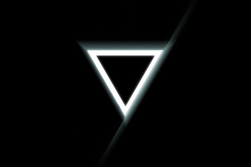 Download Wallpaper 1920x1080 Triangle, Inverted, Black, White Full