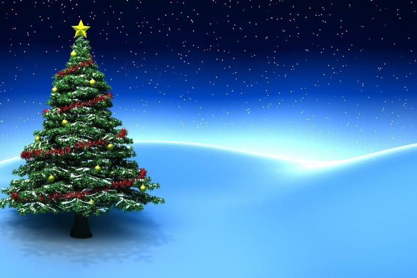 Blue Christmas Tree Background (13)