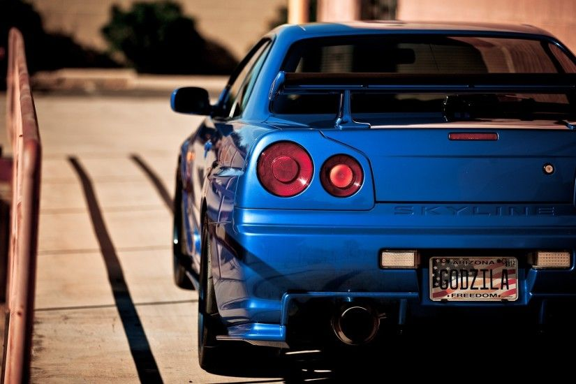 Blue nissan vehicles sport cars blue cars racing club skyline r34 wallpaper