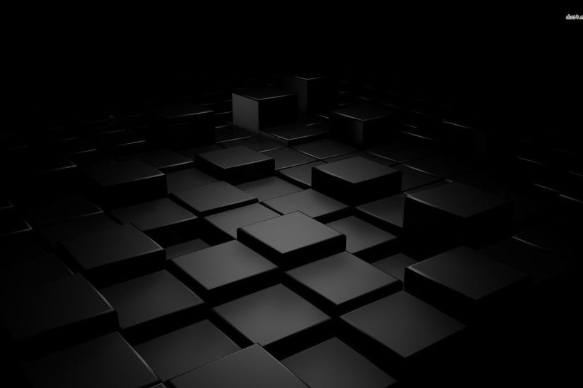 Black cubes wallpaper - 3D wallpapers - #21208