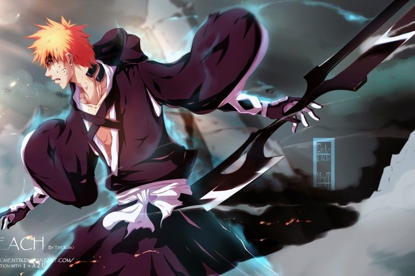 kurosaki ichigo new zanpaktou double sword bankia anime picture bleach hd  wallpaper 1920x1080 47
