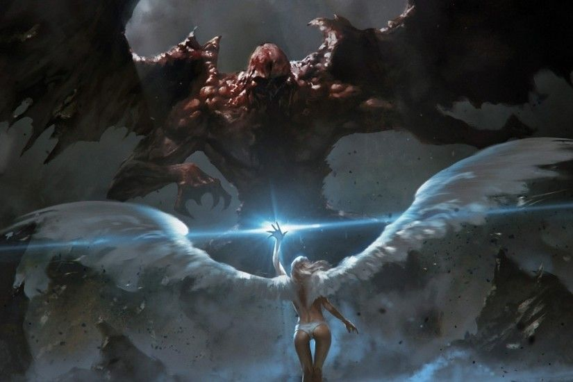 Fantasy Angel Demon. Wallpaper 332195