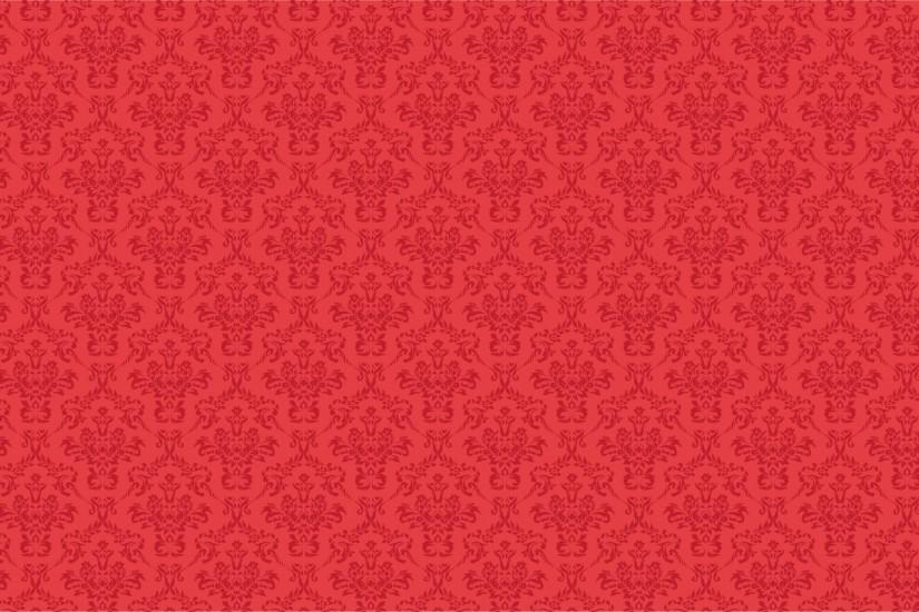 Damask Pattern Background Red