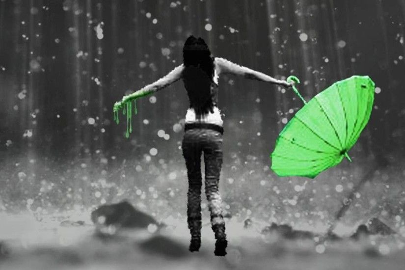 Girl In Rain HD Wallpaper, Girl In Rain Pictures