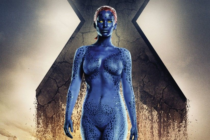 X Men, Mystique, Jennifer Lawrence, X Men: Days Of Future Past, Yellow  Eyes, Superheroines Wallpapers HD / Desktop and Mobile Backgrounds