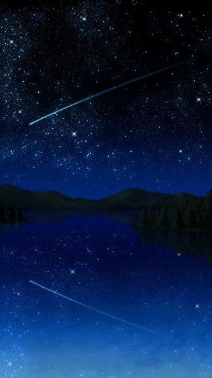 Shooting Star Sky Wallpapers for Galaxy S5