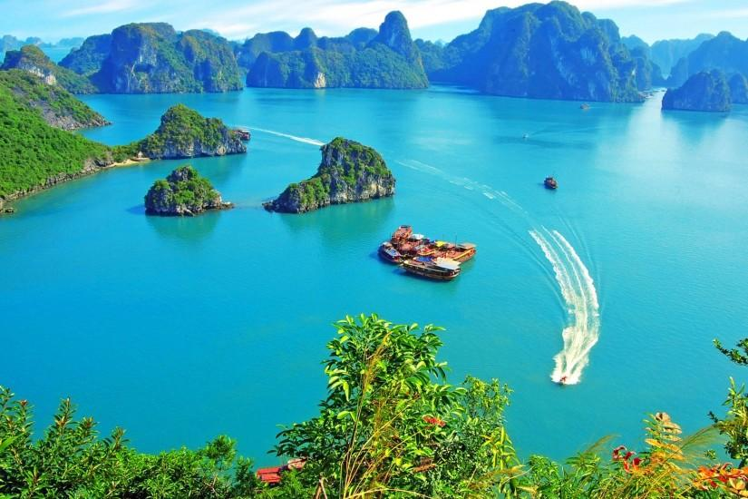 Halong Bay Vietnam Island Wallpaper