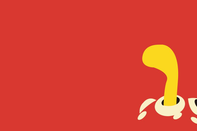 Shuckle, Minimalism, Red Background wallpaper thumb