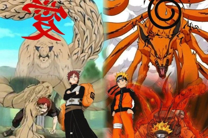 Naruto and gaara by cartoon hd wallpaper HQ WALLPAPER - (#38727)