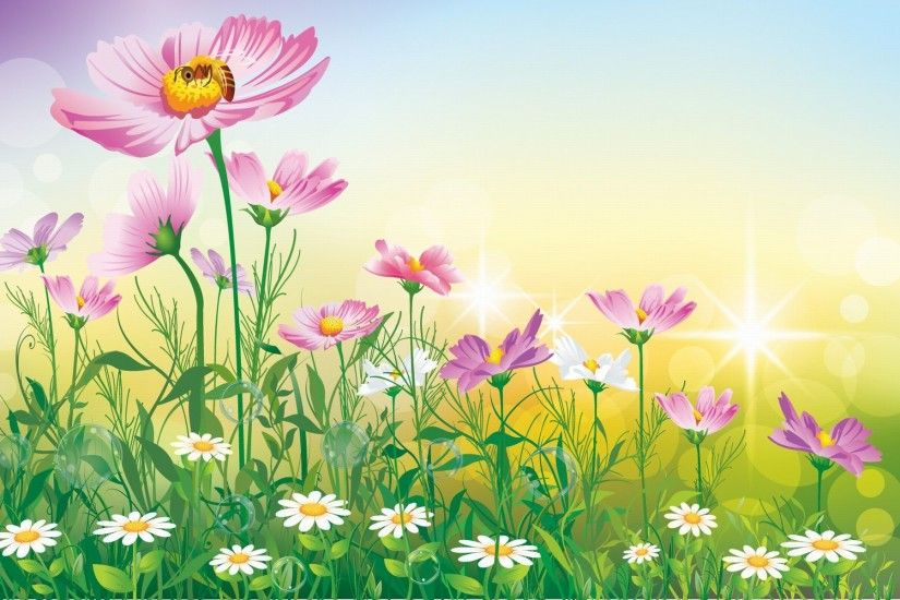Real flower garden background - Flower Paintings Background Wallpaper Hd  Wallpapers13com