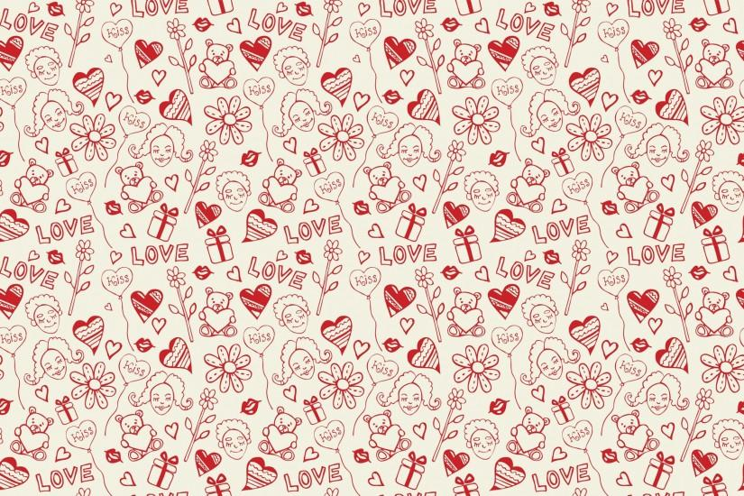Preview wallpaper heart, background, pattern, surface, kiss, texture  2560x1600