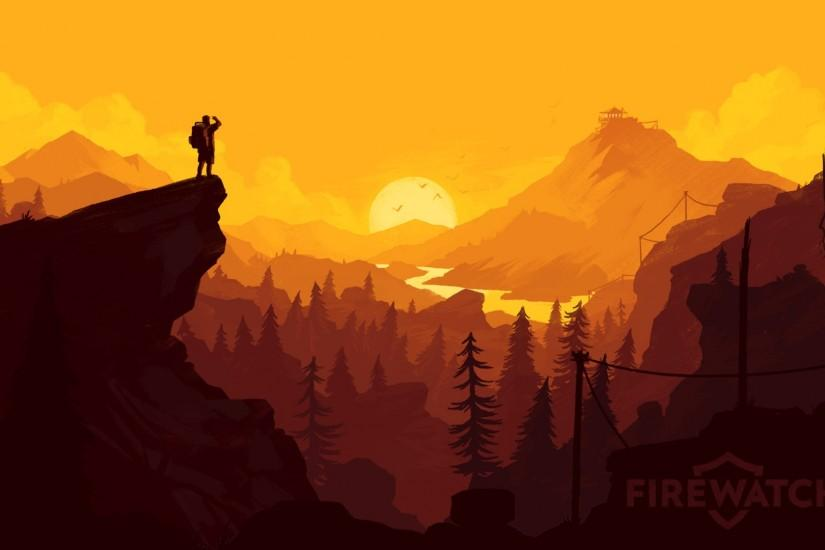 cool firewatch wallpaper 3840x1080 mobile