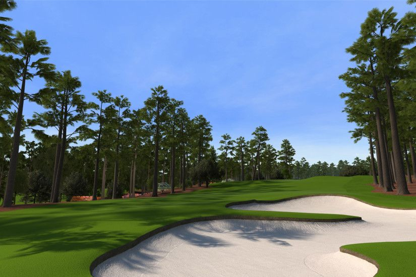 "8 at Augusta National as seen in the PS3 and XBox 360 versions of ""Tiger  Woods 12: The Masters."""