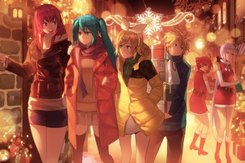 Vocaloid, Hatsune Miku, Megurine Luka, Kagamine Len, Kagamine Rin,  Christmas, Christmas Tree, Kasane Teto, Akita Neru, Yowane Haku Wallpapers  HD / Desktop ...