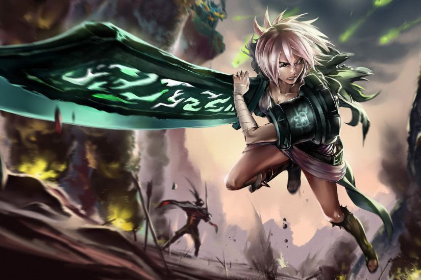 Video Game League Of Legends Riven Sword Runes Wallpaper